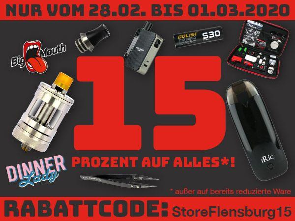 15% auf fast Alles im Riccardo E-Zigaretten Store, on- & offline