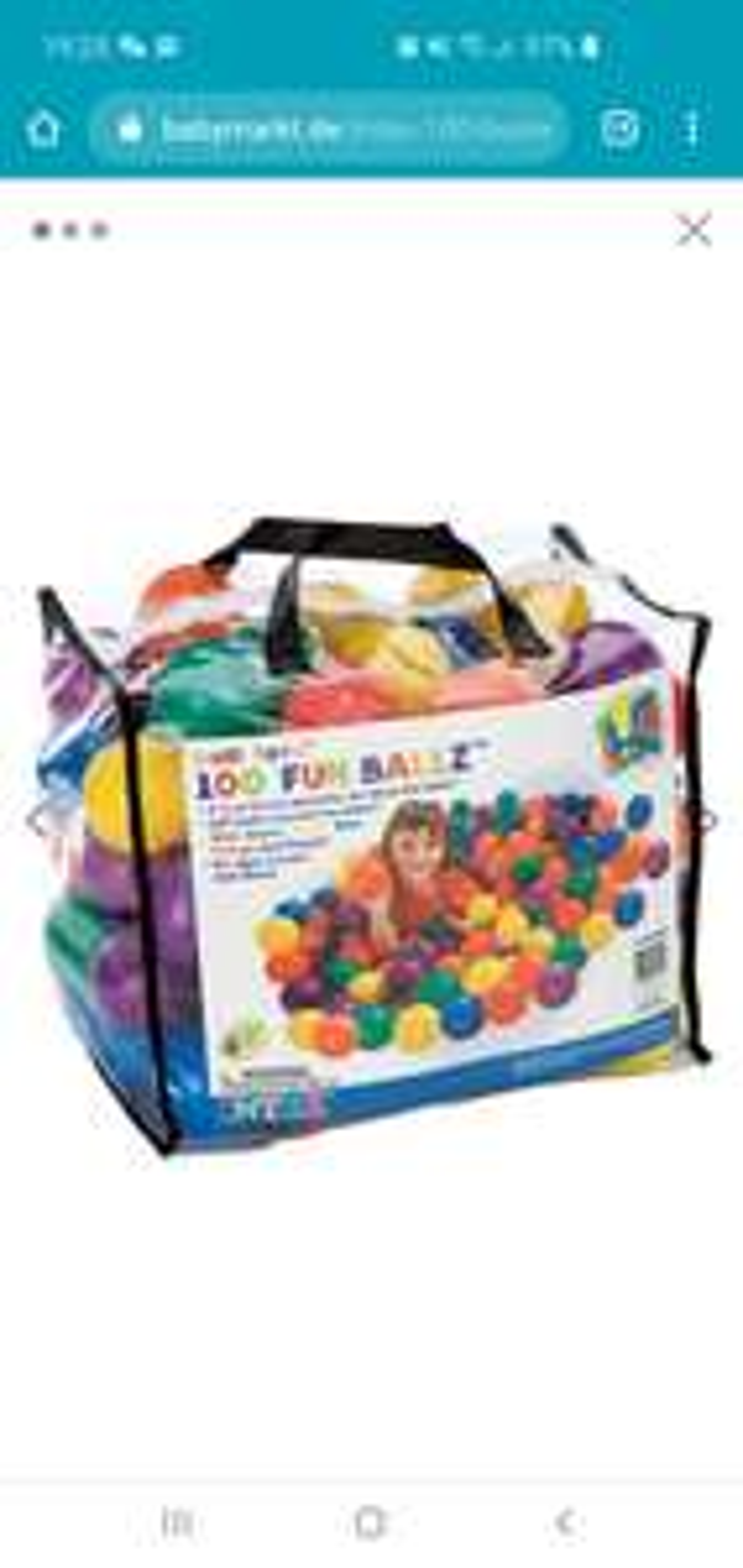 100 Bälle fürs Bällebad - Intex Fun Ballz
