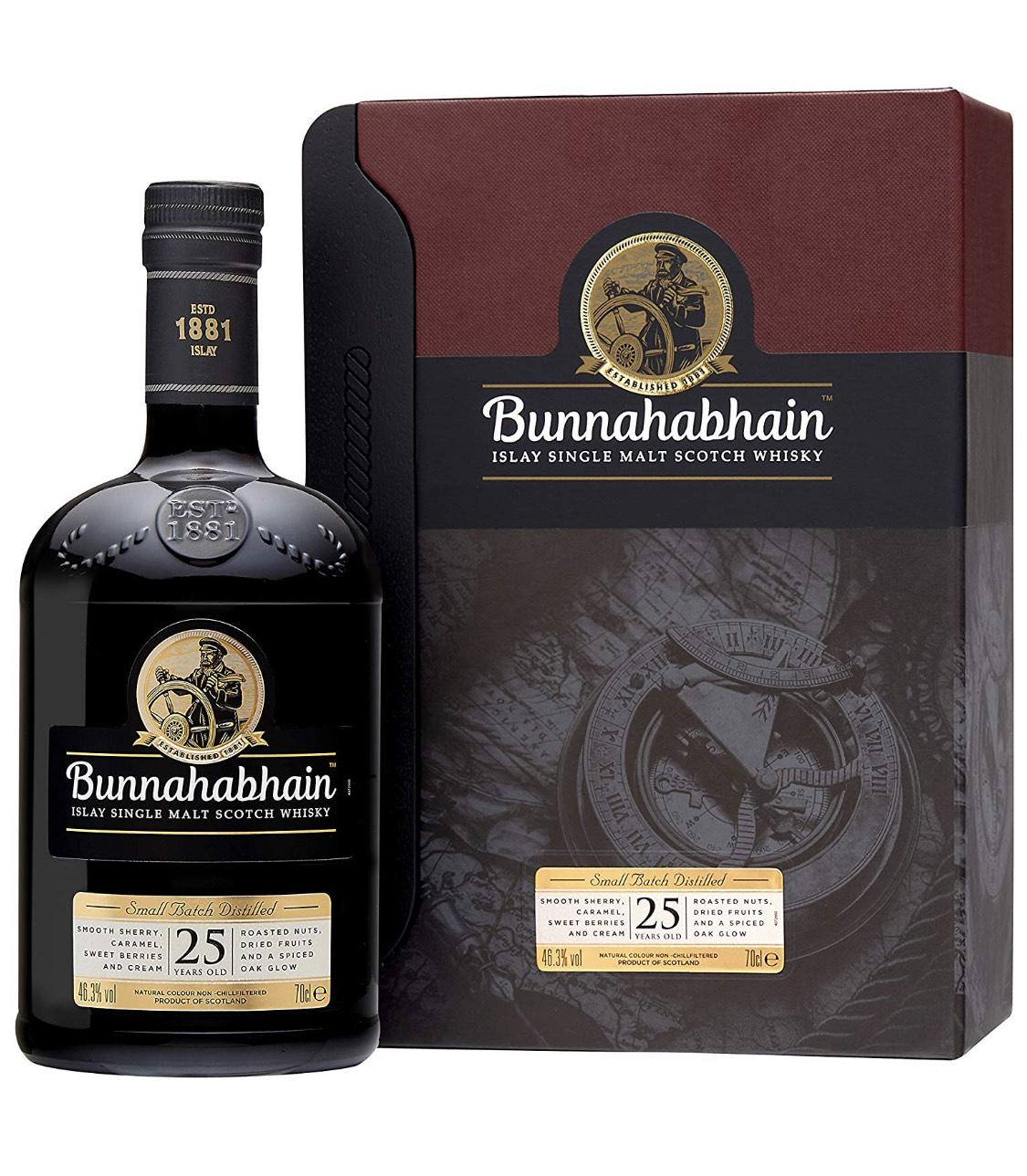 Bunnahabhain 25 Jahre. Single Malt Scotch Whisky