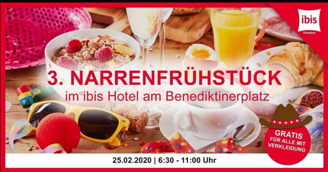 """[Konstanz] Gratis """"Narrenfrühstück"""" am Faschingsdienstag im Ibis Hotel"""