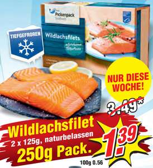 [WIGLO LOKAL] Wildlachsfilet 2x125g für 1,39€