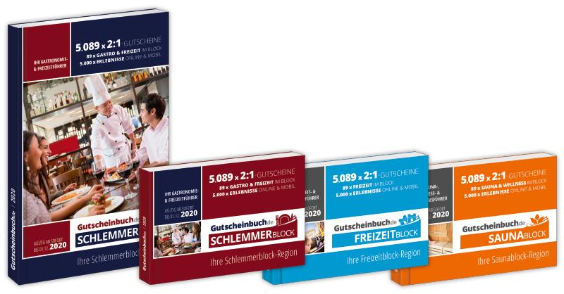 Schlemmerblock / Gutscheinbuch 2020 ab 10,68€ (bei Abnahme von 5 Stück) statt 34,90€