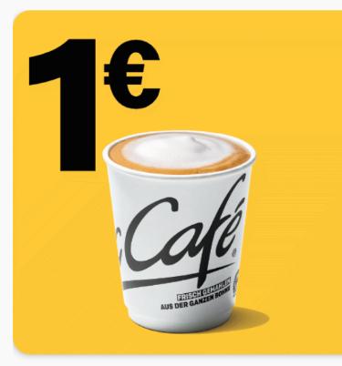 Cappuccino small 1€ [McDonald's App]