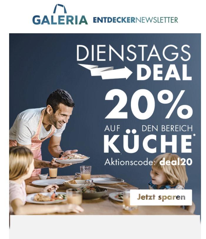 [Karstadt / Kaufhof online] 20% auf alles aus dem Bereich Küche