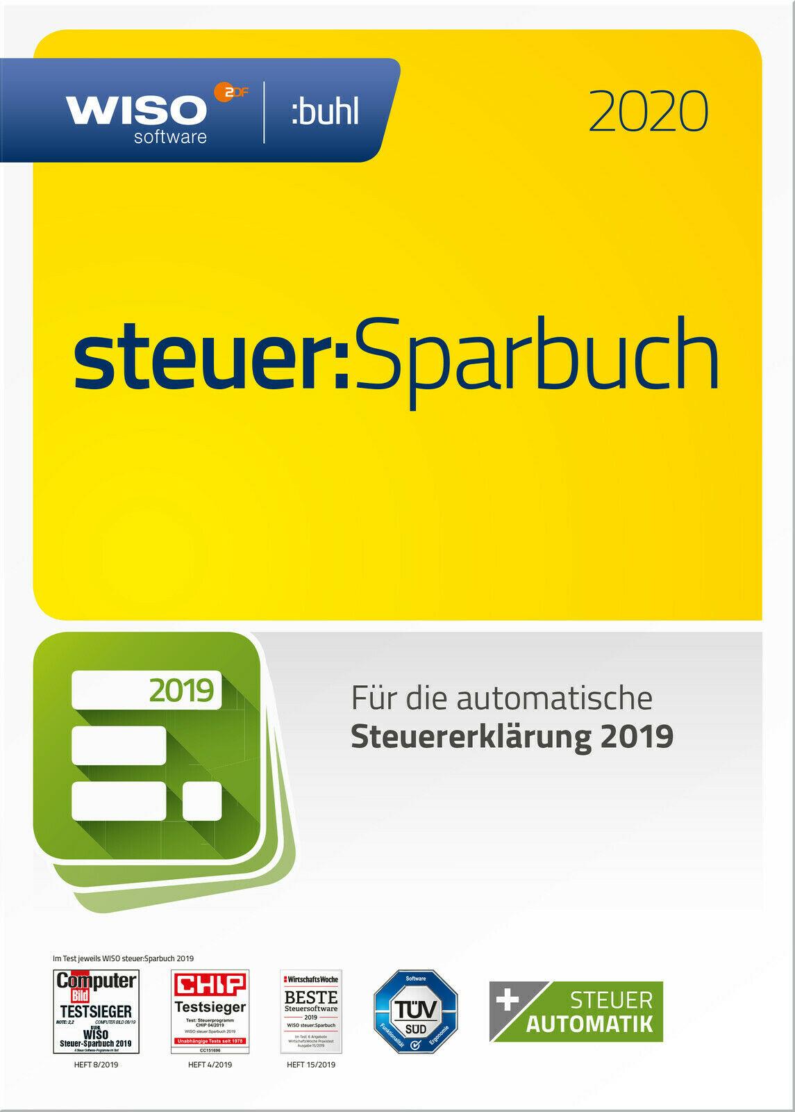 WISO steuer:Sparbuch 2020 (für Steuerjahr 2019) mit CD [ebay | Saturn]
