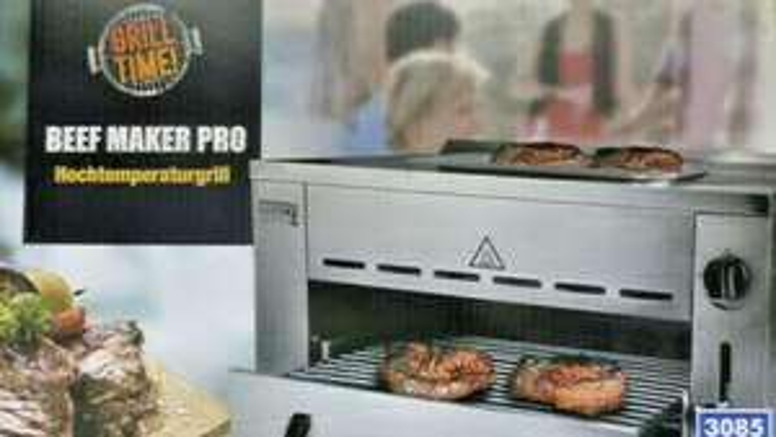 Beef Maker Pro Aldi OHG Oberhitzegrill Grill (Lokal Essen)