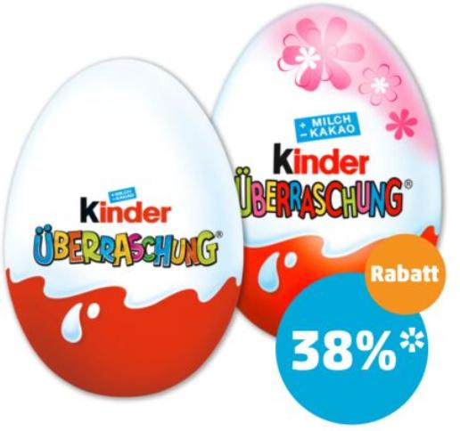 Penny: Kinder Ü-Ei für 49 Cent pro Stück | FUNNY-FRISCH Spezialitäten für 99 Cent statt 1,59€ & 25% auf Grüne Tafelbirnen