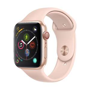 Apple Watch Series 4 LTE 44mm Alu Gold, mit Sportarmband Sandrosa.