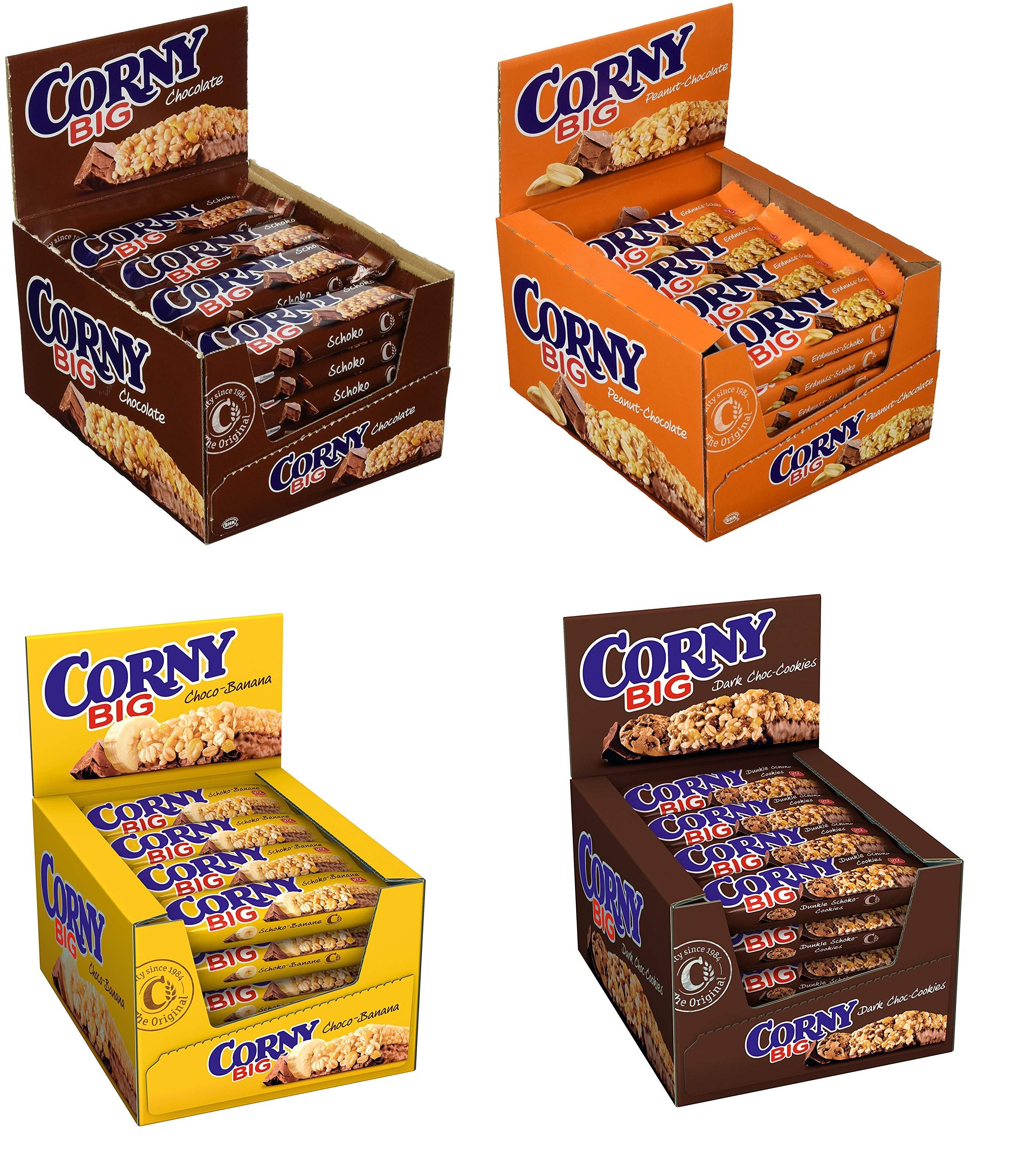 Corny BIG, verschiedene Sorten (24x 50g) = 0,35 o. 0,40 € pro Riegel | Amazon Prime (ausverkauft aber bestellbar, siehe Beschreibung!)