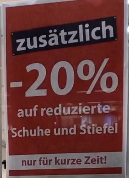 [Lokal] Berlin Hauptbahnhof bei Tamaris 20% auf reduzierte Schuhe und Stiefel