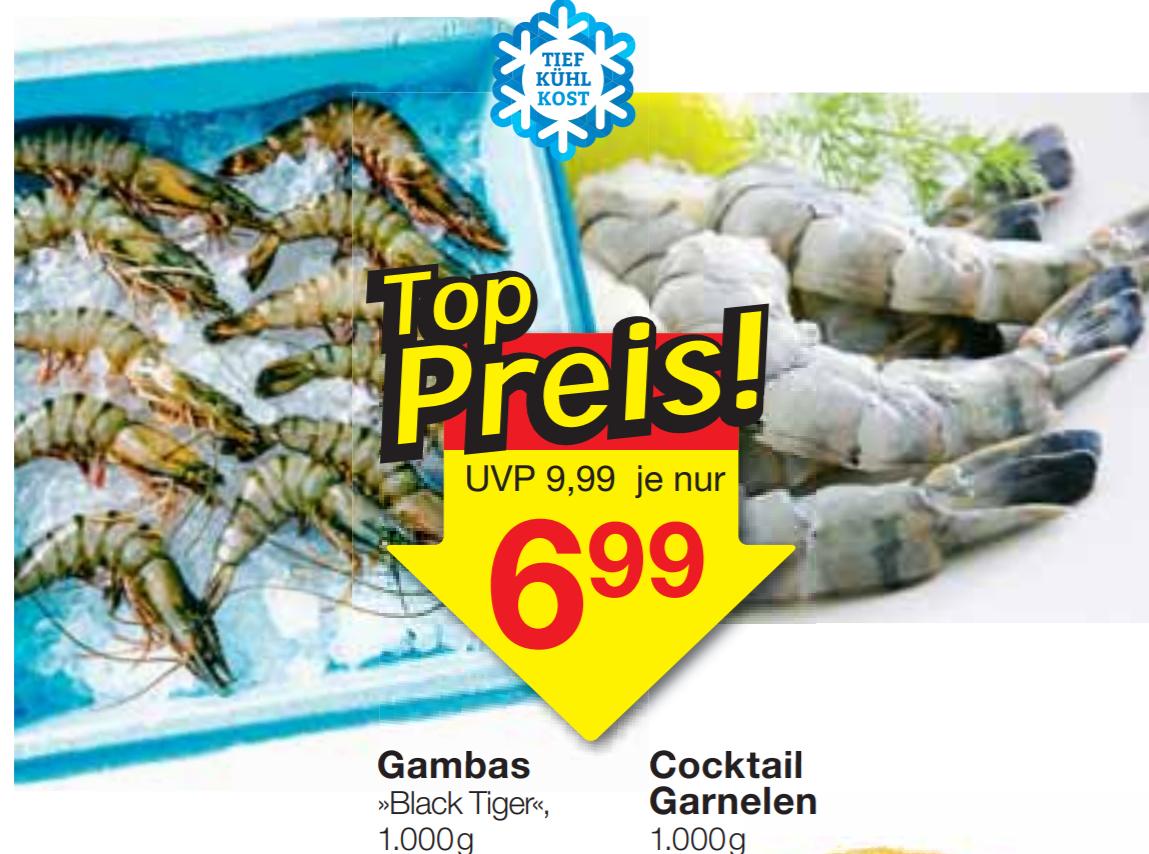 [JAWOLL] Black Tiger Gambas/Garnelen/Shrimps 1000g für 6,99€