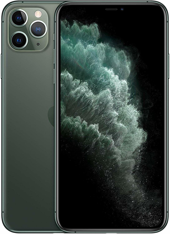 Apple iPhone 11 Pro Max 64GB (Super OLED-Display, 12 Megapixel Triple-Kamera) - Nachtgrün