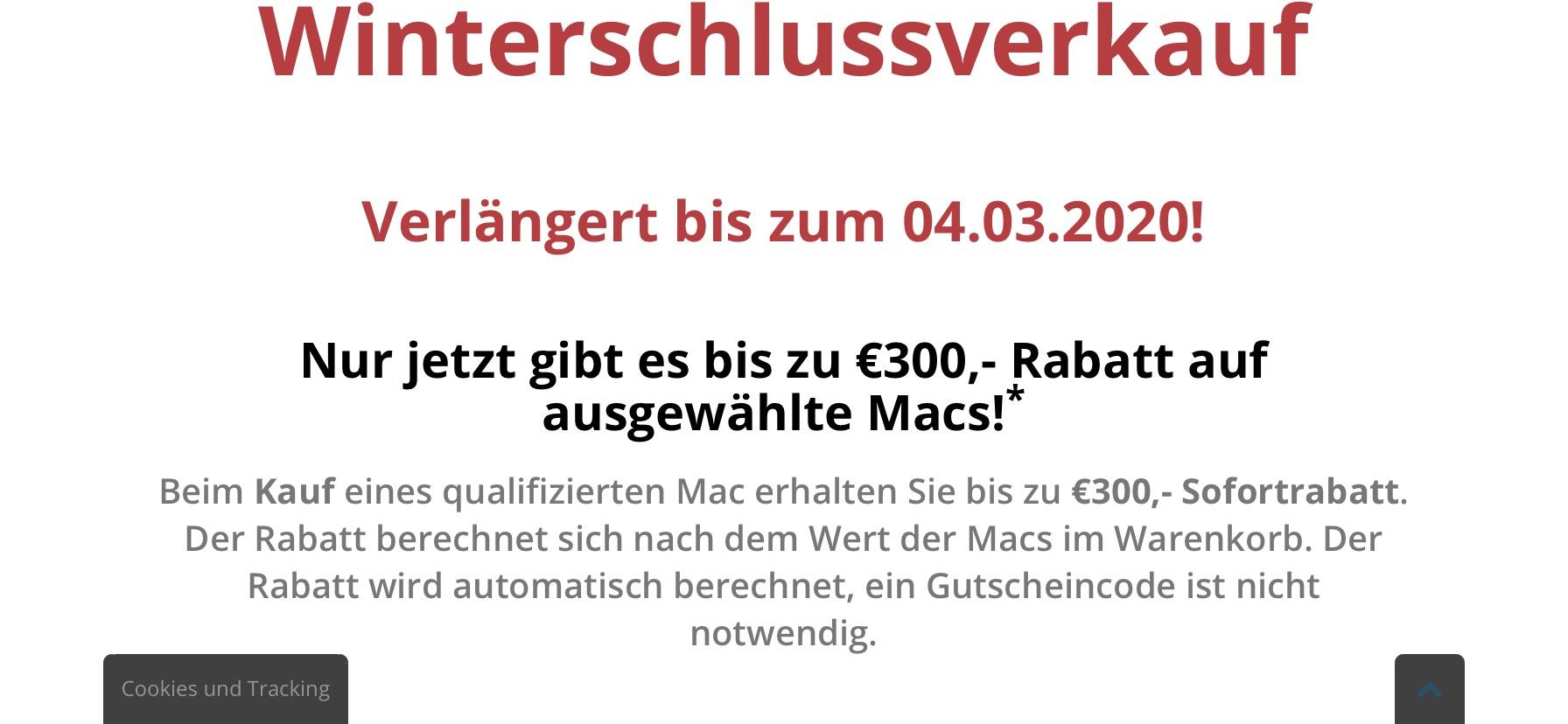 Macbook Air günstiger bei Finanzierung