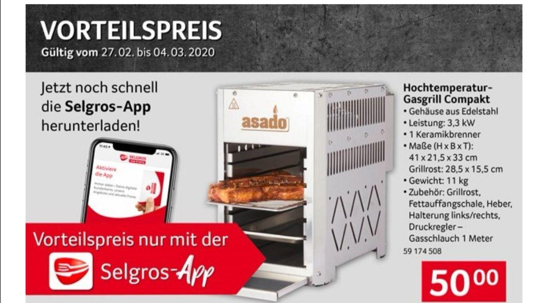 Offline Selgros Oberhitze Gasgrill - asado® 800° Compact