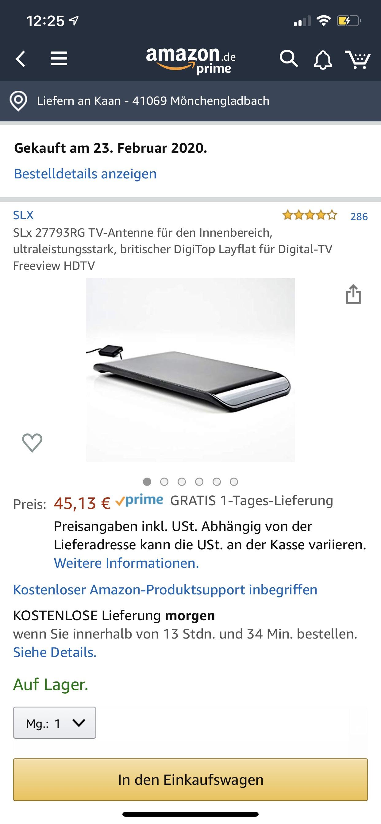 (Amazon whd) SLx 27793RG TV-Antenne für den Innenbereich, ultraleistungsstark, britischer DigiTop Layflat für Digital-TV Freeview HDTV