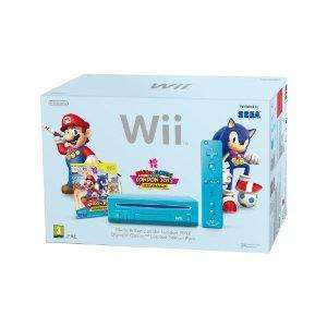 [AMAZON UK] Nintendo Wii Console (Blue) with Mario and Sonic at the London 2012 Olympic Games (New Slim-Style) + Game (15pound) für 121,07€