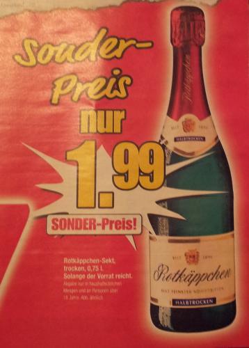 [lokal] Rotkäppchen Sekt (0,75 l) für 1,99 Euro ab 02.01. bei Einrichtungshaus Hansel in DELBRÜCK