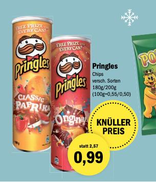 Pringles – verschiedene Sorten – Aktiv Oldenburg