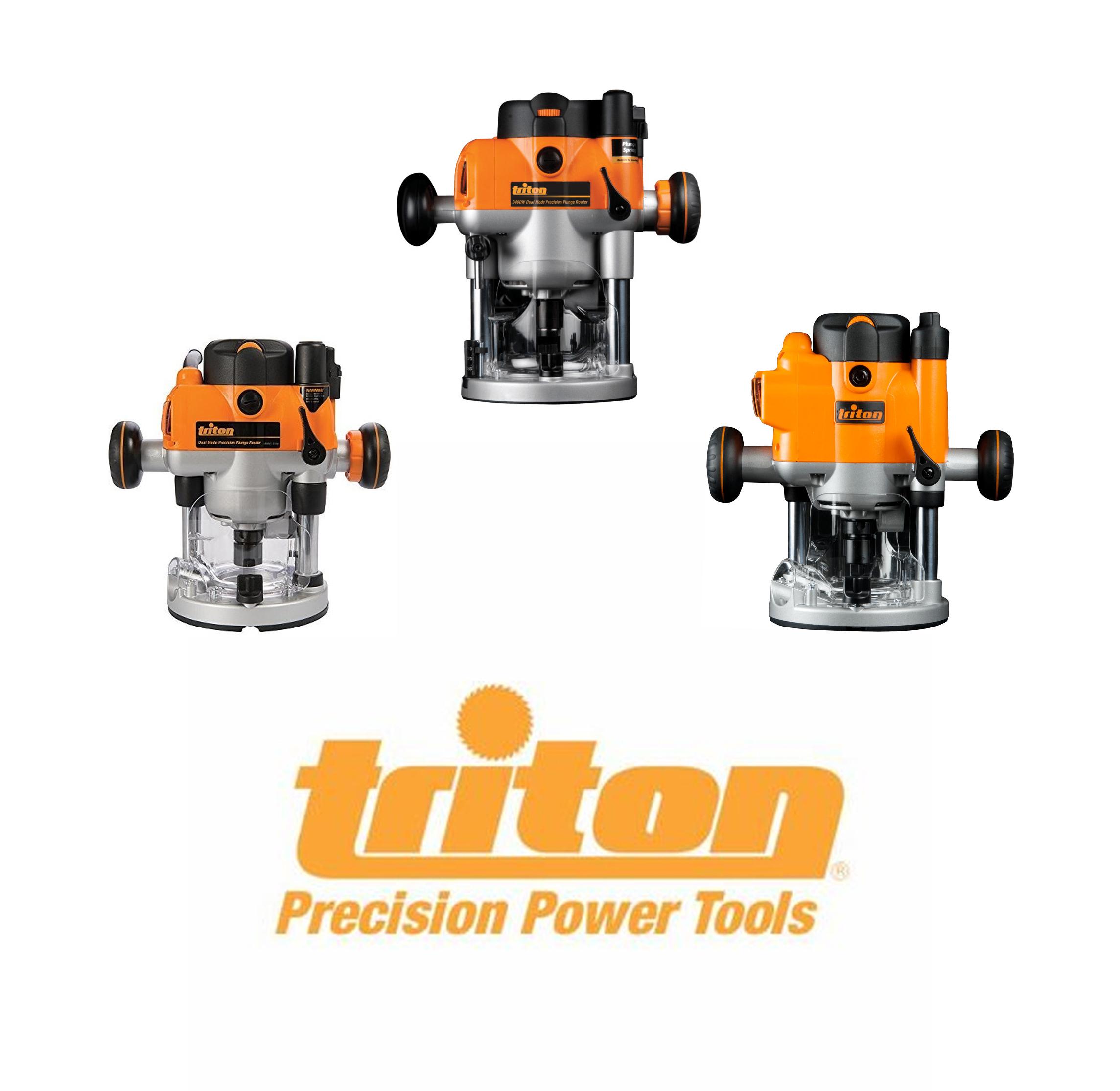 Triton Sammeldeal Oberfräsen TRA001, MOF001, JOF001 / Flachdübelfräse /Elektro-Falzhobel / Kreissägemodul / Spindelschleifer [screwfix]