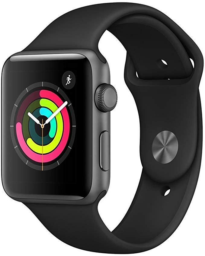Apple Watch 3 GPS 42mm spacegrau mit Sportarmband für 226,99€ (mit Sovendus für 216,99€ möglich) Abholung 222€ bzw. 212€