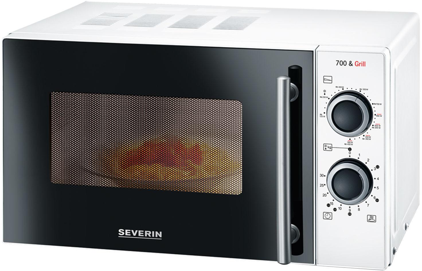 Severin MW 9283 Mikrowelle mit Grill 700W 900W 9 Leistungsstufen für 45€ inkl. Versandkosten