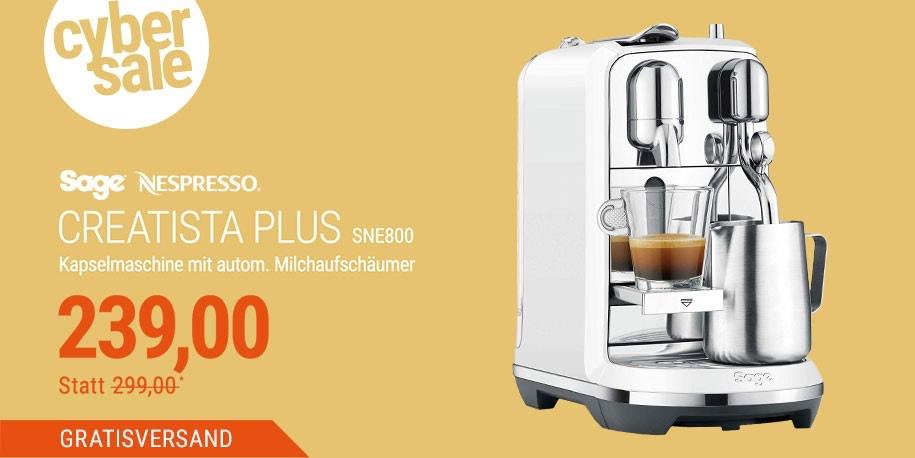 (Cyberdeal) Sage Nespresso Creatista Plus Sea Salt Kapselmaschine SNE800