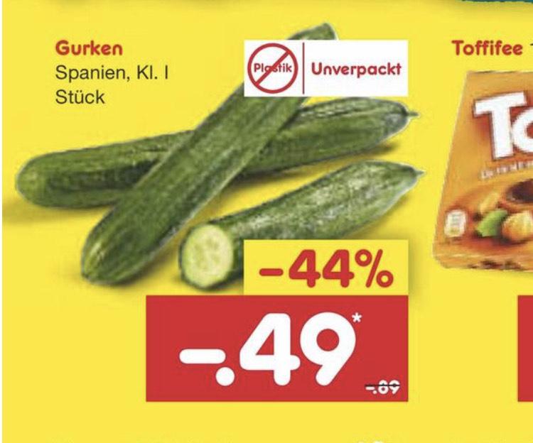 [Netto Bundesweit] Gurken für 0,49€ statt PVG 0,89€