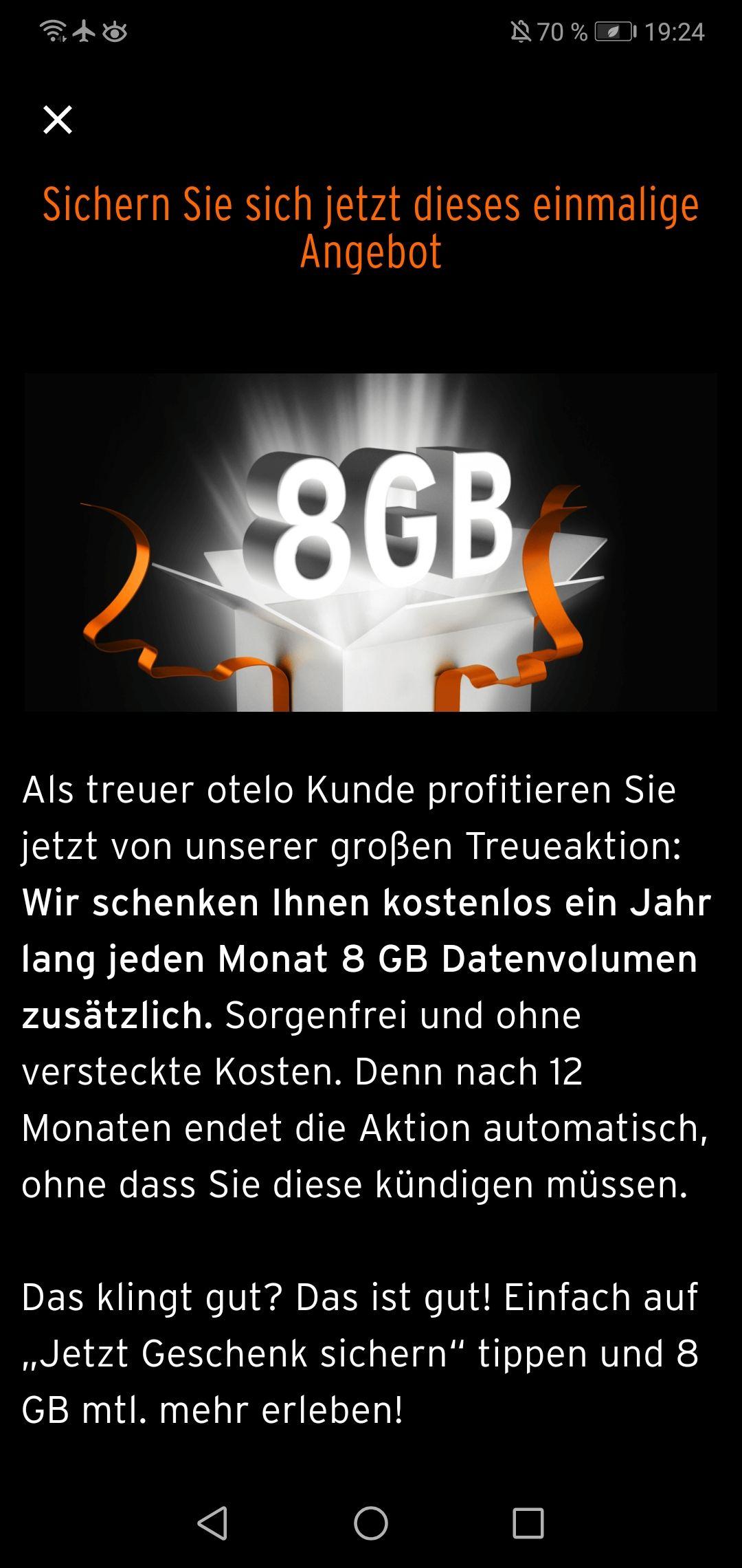 Otelo +8GB für (ausgewählte?) Bestandskunden