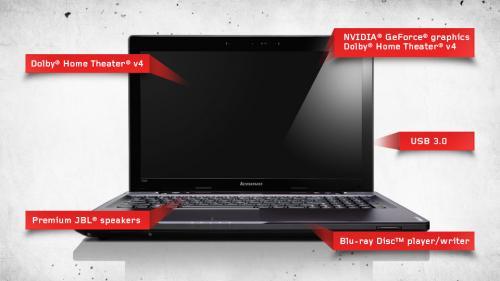Lenovo IdeaPad Y580 39,6 cm (15,6 Zoll) Notebook (Intel Core i7 3610QM, 2,3GHz, 8GB RAM, 750GB HDD + 32GB SSD, NVIDIA GTX 660M , Blu-ray, Win 7 HP)