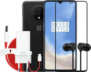 Boom Bundle: OnePlus 7T + Cover + Type-C Bullets + WarpCharge Ladegerät + WarpCharge Kabel + 3D Tempered Glass + Type-C 3.5mm Adapter