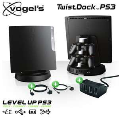 Vogels TwistDock für PlayStation 3 mit USB-Hub und Kabel-Set @ iBood