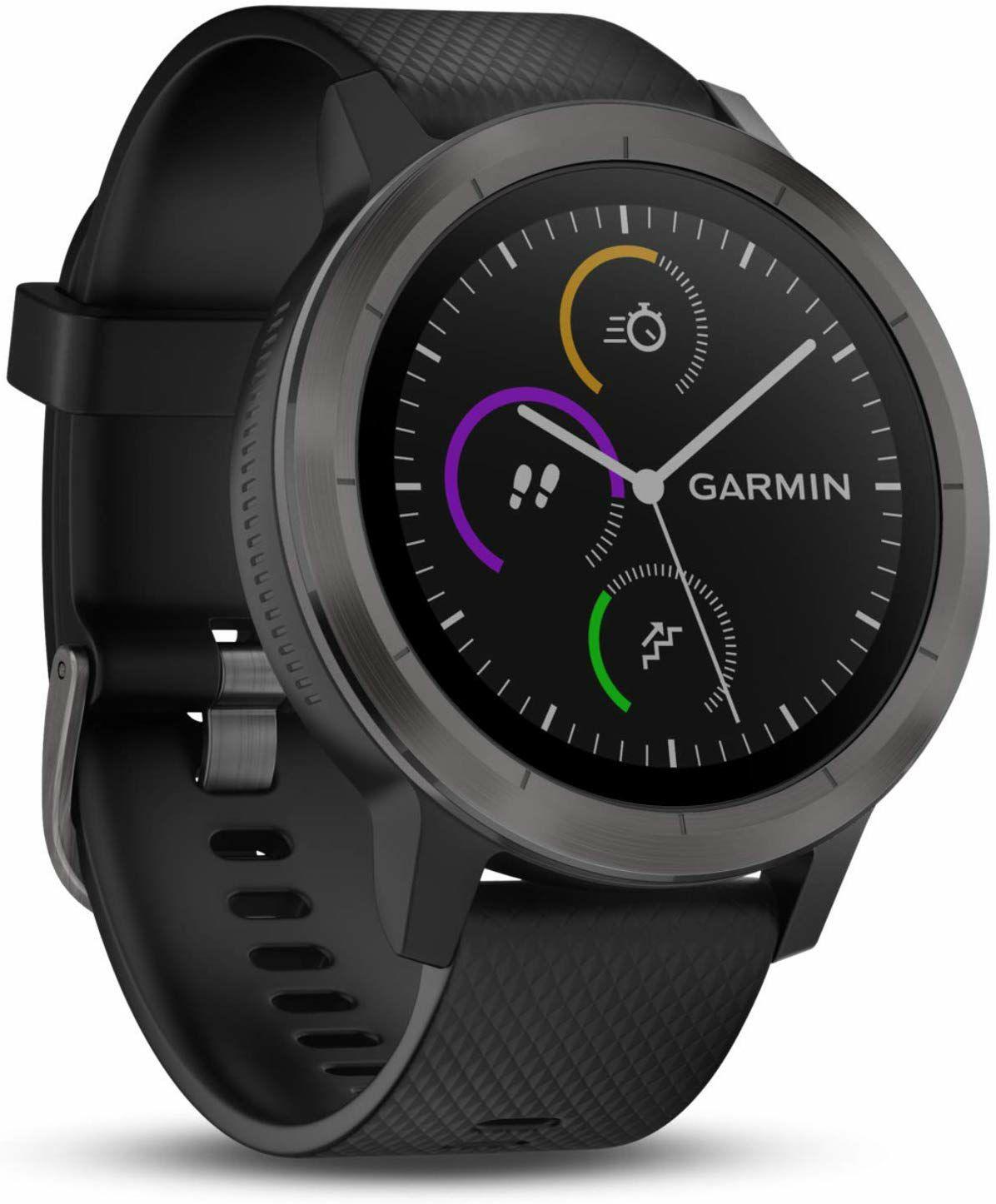 "Garmin Vivoactive 3: Fitness-Smartwatch (1,2"" Display, GPS, Mobiles Bezahlen, 8 Tage Akku, VO2max, 5ATM)"