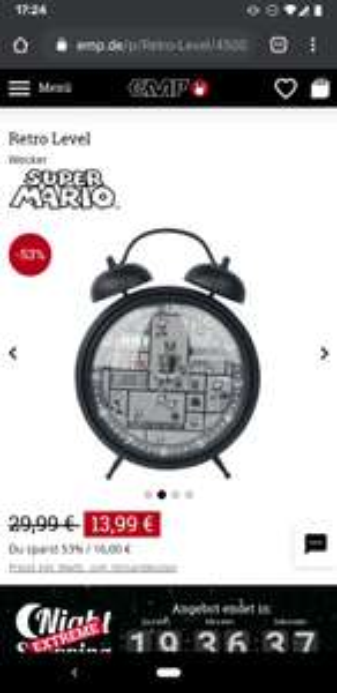 EMP Retro Super Mario Wecker