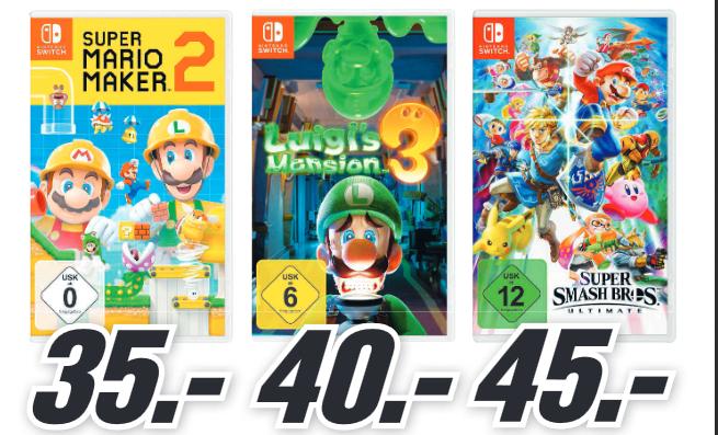 [lokal: MM Stralsund] Super Mario Maker 2 Switch =35€ | Nintendo Joy Con blau/gelb =55,99€ | Lego Land Rover Defender =119€ | u.a. Angebote