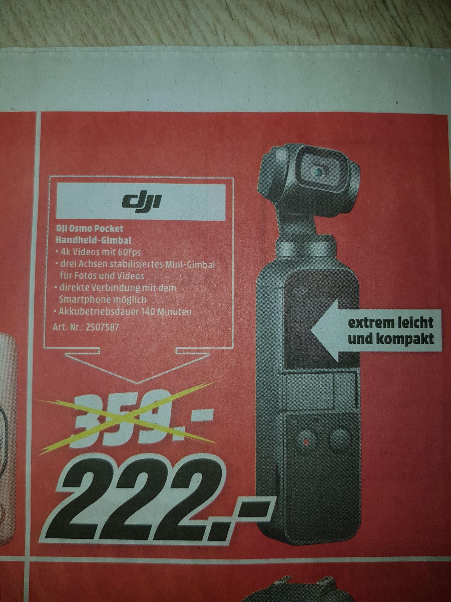 [Lokal] Rostock Mediamarkt Brinkmannsdorf - Dji Osmo Pocket für 222€