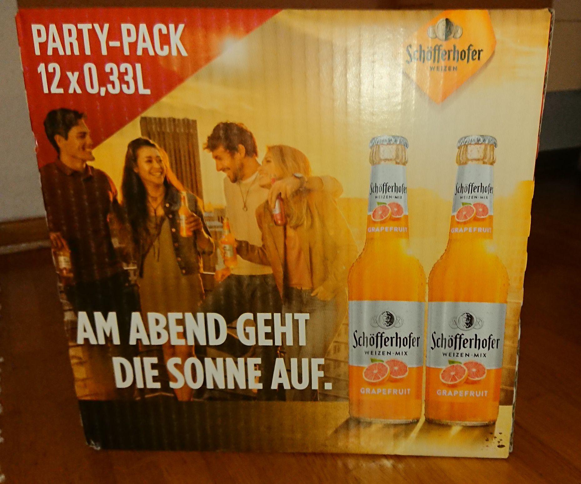 12er Partypack Schöfferhofer Weizen Grapefruit mit kurzem MHD lokal in Krefeld