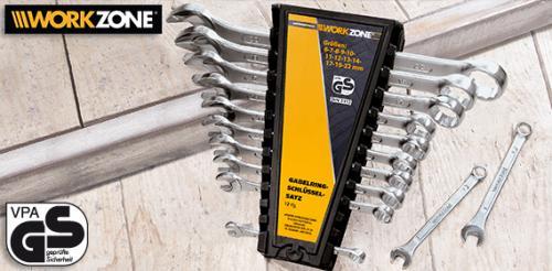 Gute Werkzeuge von Workzone - Aldi Süd - Ringschlüsselsatz 5,99 € und Kugelkopf-Stiftschlüsselsatz 2,99 € ab 07.01.2012