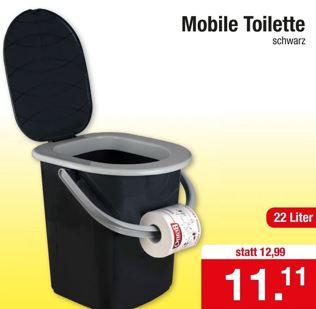 Toilette für den mobilen Einsatz oder für das Gäste-WC für 11,11 Euro [Zimmerman]
