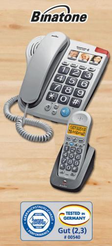Bei Norma  Ab 02.01.2013 Binatone Grosstasten Telefon mit DECT-Zusatz-Set, Big Button Combo II