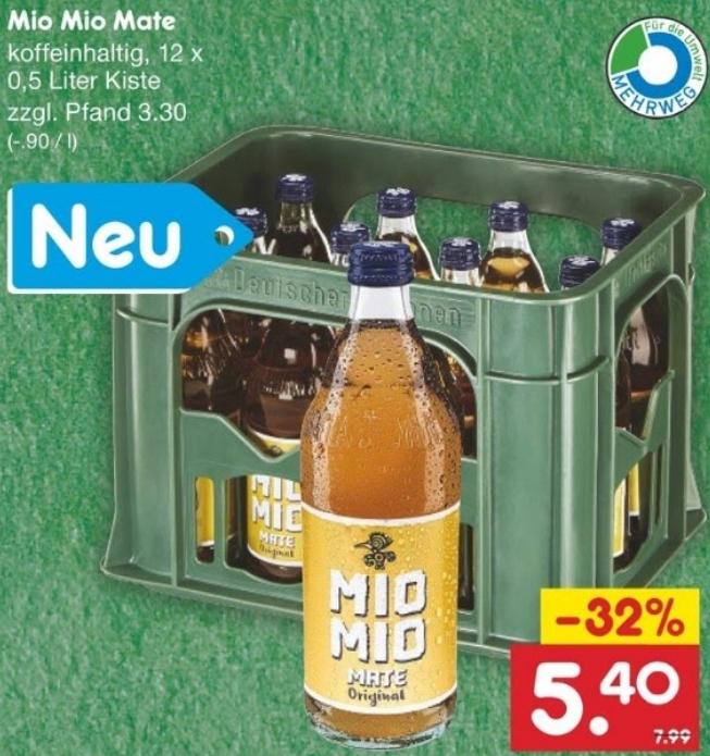 Lokal Mio Mate neu im Sortiment und im Angebot bei Netto Markendiscount