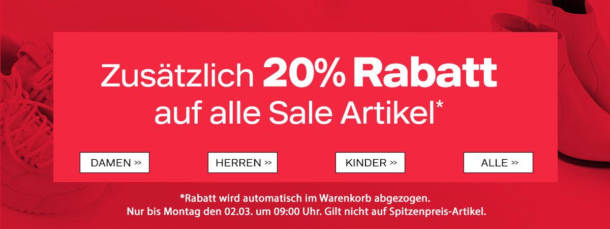 [DEICHMANN] 20 % Rabatt auf SALE-Artikel!