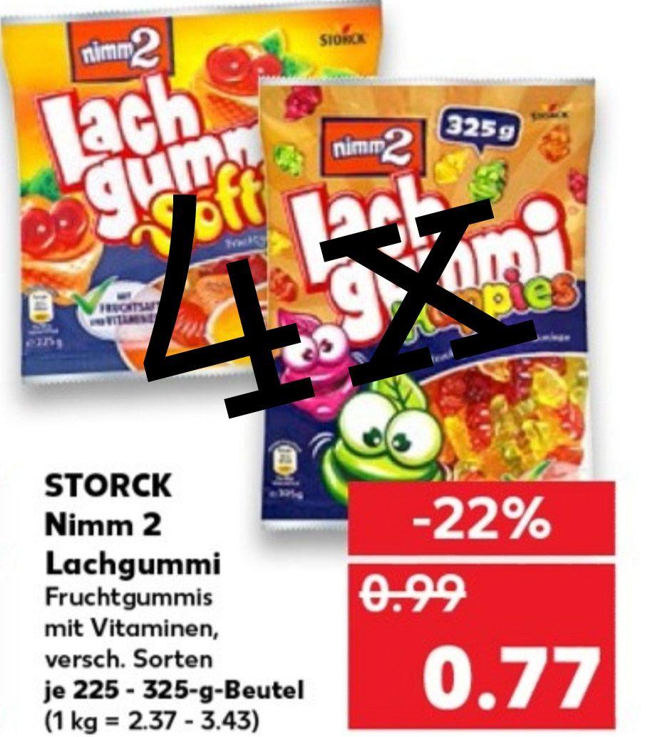 [Kaufland] 4x nimm2 Lachgummi versch. Sorten mit Coupon für 77 Cent | bei 4 Packungen nur 0,52€ pro Packung