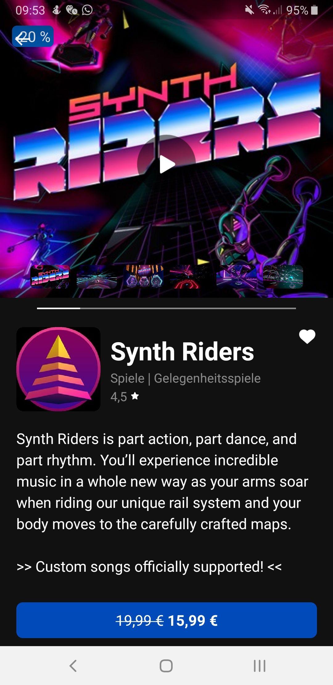 Synth Riders Oculus Quest/Rift Store (für Beat Saber Fans)