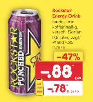 Rockstar Energy Drink verschiedene Sorten