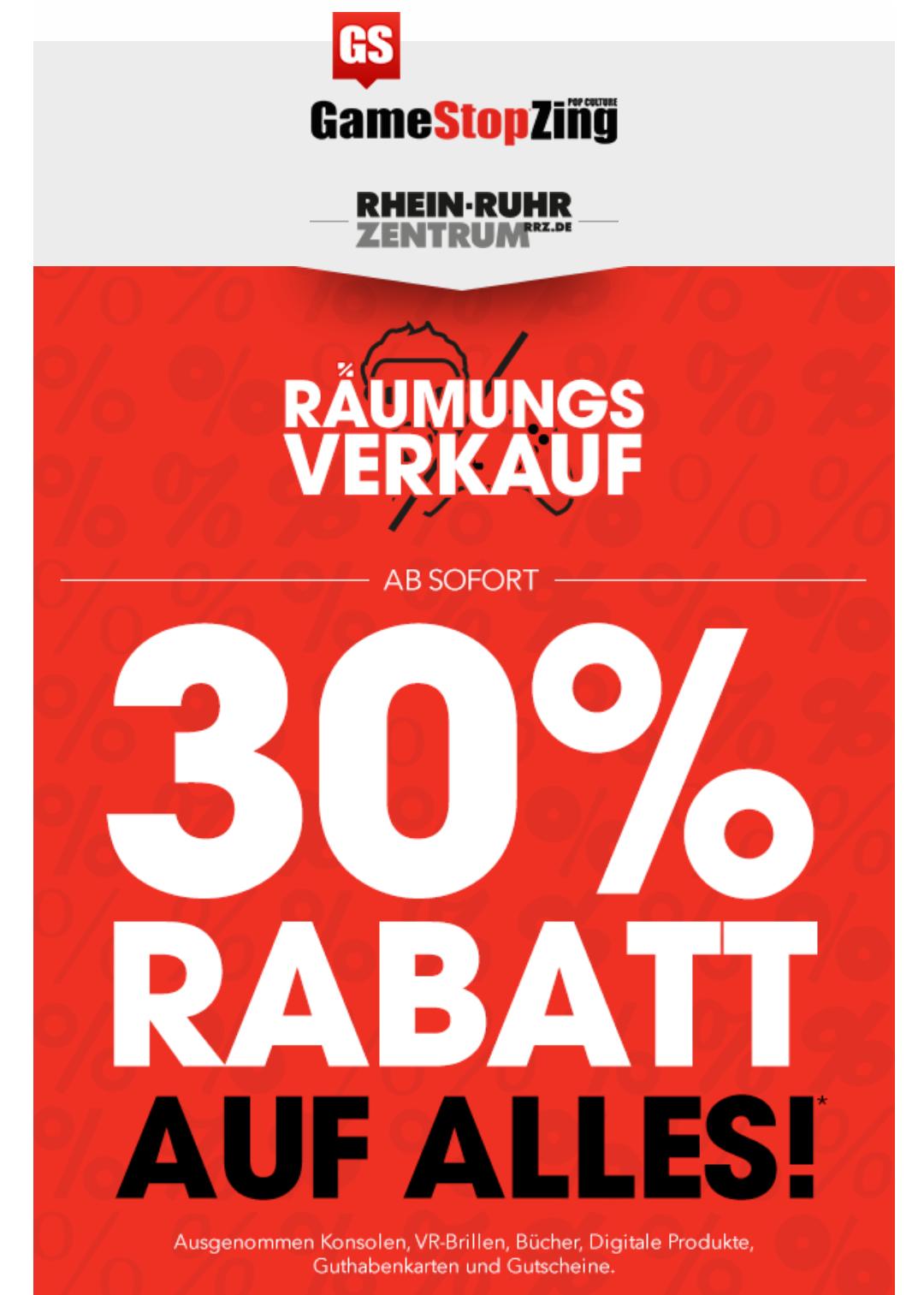 [GameStop Mülheim] 30% auf Alles