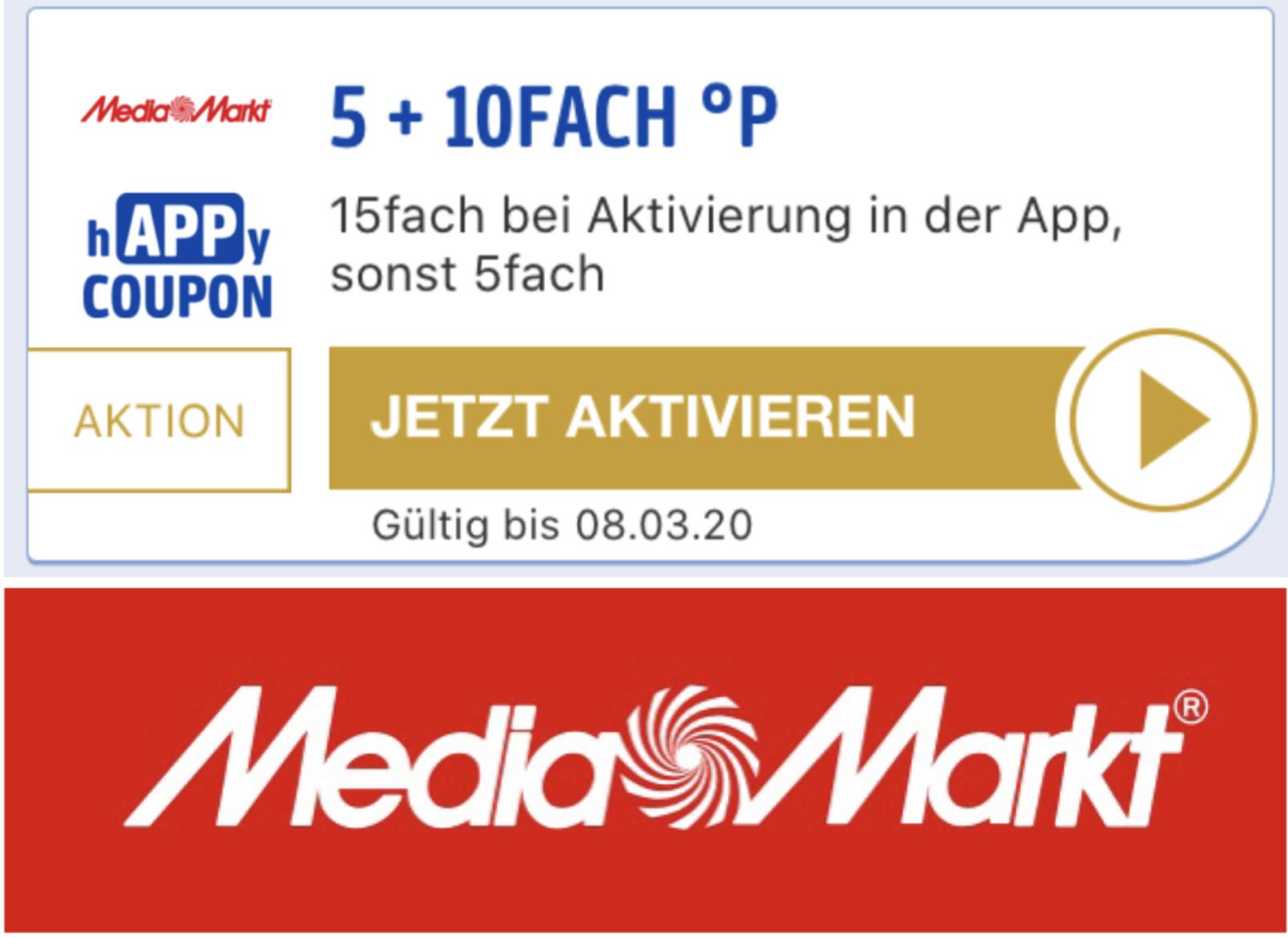 MediaMarkt: 15-fach Punkte über die Payback App - entspricht ca. 7,5% Ersparnis!