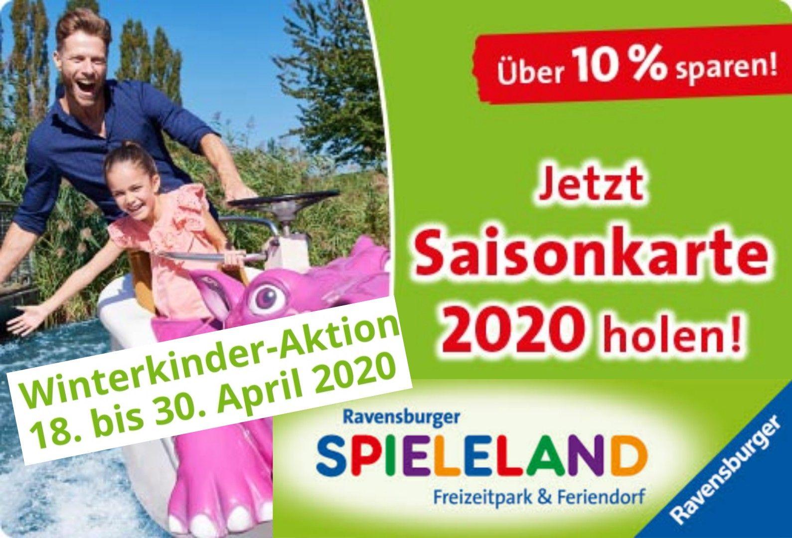 [Ravensburger Spieleland] Winter-Kinder Eintritt gratis (-34,50€), Saisonkarte: Vorverk. -10,50€ + Vorteile + 1x Freieintritt (-36,50€)