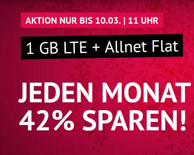 handyvertrag.de LTE All 1 GB 3,99€