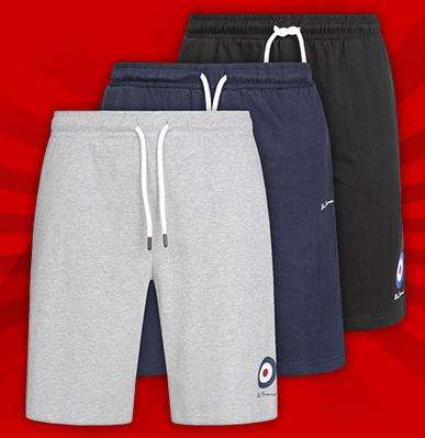 BEN SHERMAN Herren Sweat-Shorts für 7,77€ + 3,95€ VSK (100% Baumwolle, In grau 90% Baumwolle 10% Viskose, Größe S - XL) [SPORTSPAR]