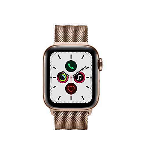 Apple Watch Series 5 (GPS + Cellular, 40 mm) Edelstahlgehäuse - Milanaise Armband